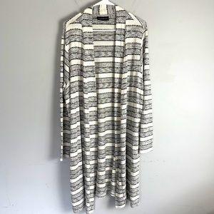 Lane Bryant striped duster cardigan sweater